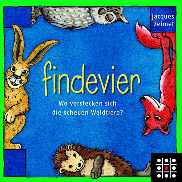 findevier von steffen spiele f r kinder ab f nf jahren kinderspiele im test. Black Bedroom Furniture Sets. Home Design Ideas